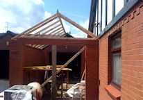 Garage Extension Under Construction